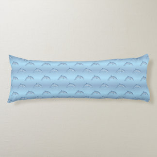 Beach Dolphin pattern body pillow
