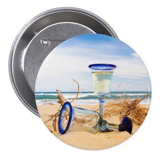 Beach Dreaming Button Pin