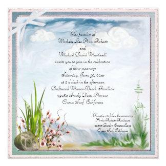 Beach Dune Romance Square Wedding Invitation