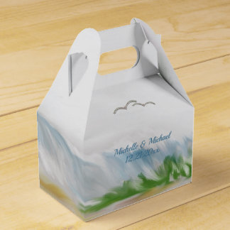 Beach Dune Romance Wedding Favour Box