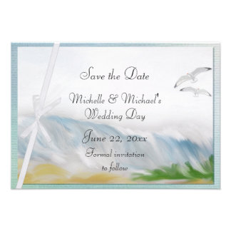 Beach Dunes Romance Save the Date Personalized Invitation