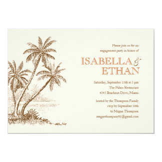 Beach Engagement Party Invitations