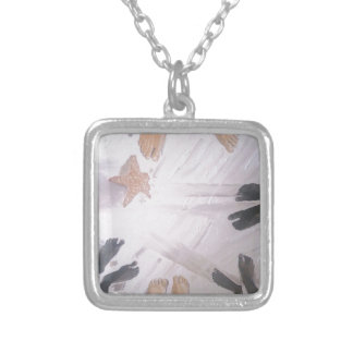 Beach Feet Silver Plated Necklace