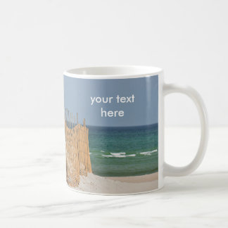 Beach fence and sand dune coffee mug