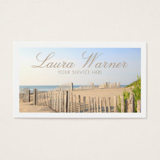 Beach Fence Business Card