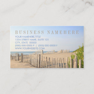Beach real estate agent business cards zazzle au beach fence business cards reheart Choice Image
