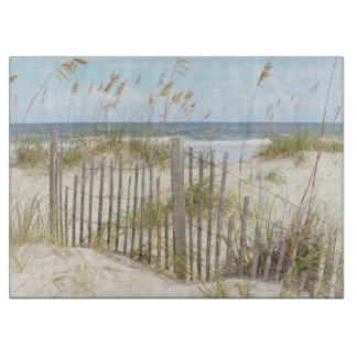 Beach Fence Glass Cutting Board