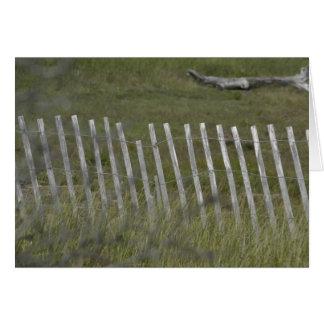 Beach Fence Note Card