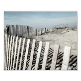 Beach Fence Photographic Print