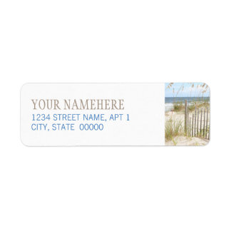 Beach Fence Return Address Label