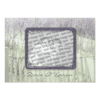 Beach Fence Save the Date Card