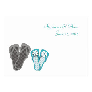 Beach Flip Flops Place Cards Pack Of Chubby Business Cards