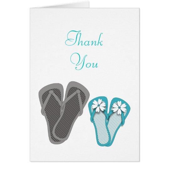 Beach Flip Flops Thank You Card