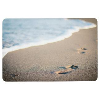 Beach Footprints Floor Mat