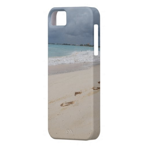 Beach Footprints in Sand iPhone 5 Cover