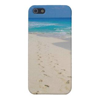 beach footprints iPhone 5 cases