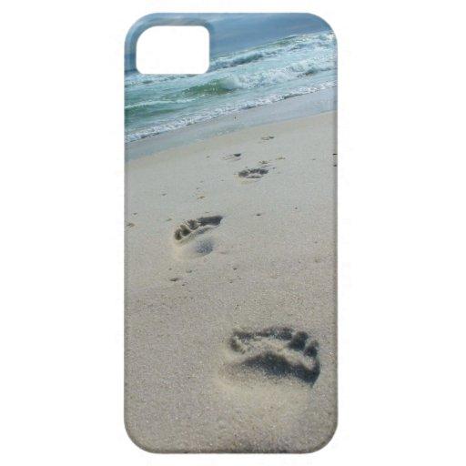 Beach Footprints Phone Case iPhone 5 Cases