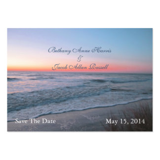 Beach Front View Save The Date Pack Of Chubby Business Cards