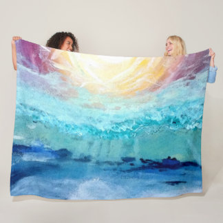 Beach Fun!  Large Fleece Blanket