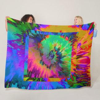Beach Fun!  Large Tie-Dye Design - Fleece Blanket