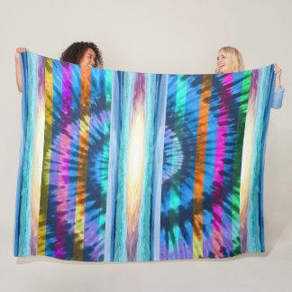 Beach Fun! Large Tie-Dye Design I - Fleece Blanket