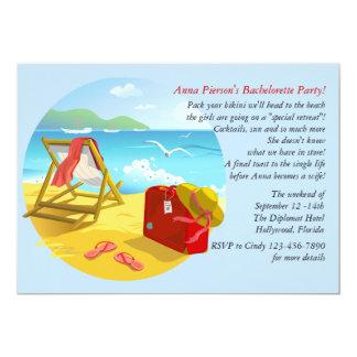 Beach Get-Away Bachelorette Party Invitation