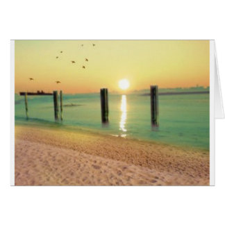 beach get away greeting card