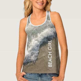 Beach Girl Ocean Waves Tank Top