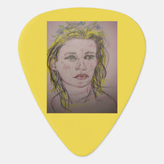beach girl with flowers in her hair plectrum