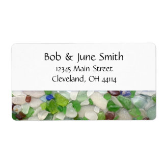 Beach Glass Address Labels