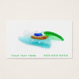 Beach Glass Lake Michigan, Colorful Shards Business Card