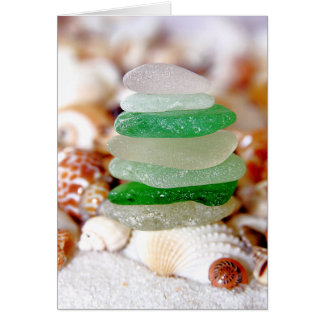 Beach Glass & Seashells Card