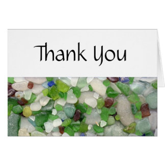 Beach Glass Thank You Cards