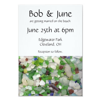 Beach Glass Wedding Invitations