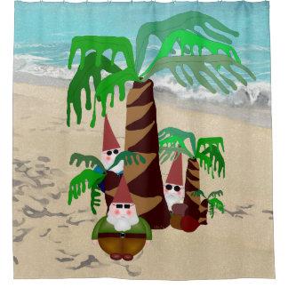 Beach Gnomes Shower Curtain