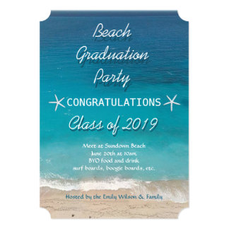 Beach Graduation Party for Class Invitation