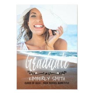 Beach Graduation Party Photo Card