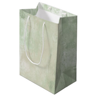 Beach Green Cream Sand abstract Medium Gift Bag