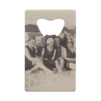 Beach Group 1920 Vintage Photograph