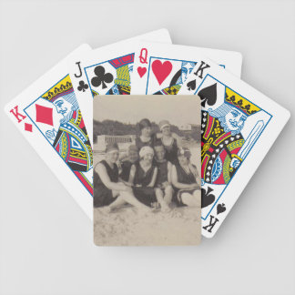 Beach Group 1920 Vintage Photograph Bicycle Playing Cards