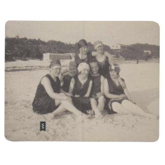 Beach Group 1920 Vintage Photograph Journal