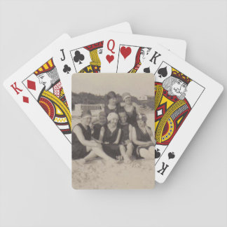 Beach Group 1920 Vintage Photograph Playing Cards