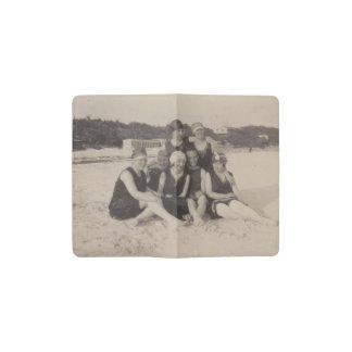 Beach Group 1920 Vintage Photograph Pocket Moleskine Notebook