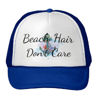 beach hair don't care, bachelorette party, anchor cap