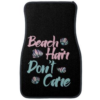 beach hair dont care shells car mat