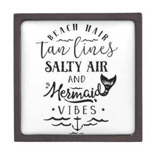 Beach Hair, Tan Lines, Salty Air, & Mermaid Vibes Premium Jewelry Box