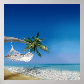 Beach Hammock Poster