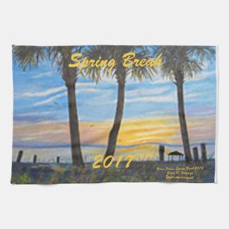 """""""BEACH HAND TOWEL OCEAN PALMS SPRING BREAK 2017"""""""