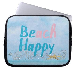Beach Happy Starfish Laptop Sleeve