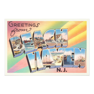 Beach Haven New Jersey NJ Vintage Travel Postcard- Photo